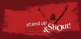 Branding: Stand Up & Shout positioning strategy, tagline development, logo design