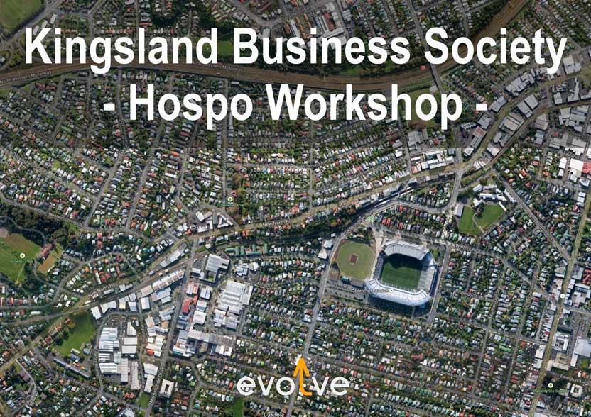 Evolve Marketing Agency client example - Kingsland Business Association planning workshop