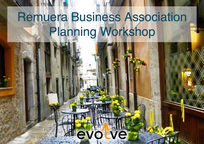 Evolve Marketing Agency client example - Remuera Business Association planning workshop