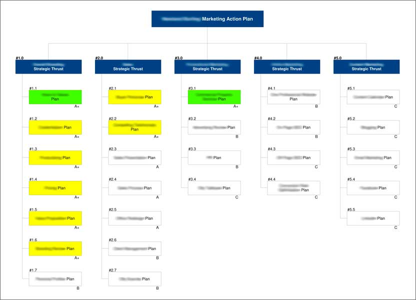Marketing Plan - Evolve eMAP visual format
